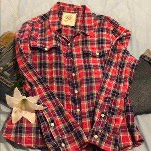 SO Plaid Button Down Shirt